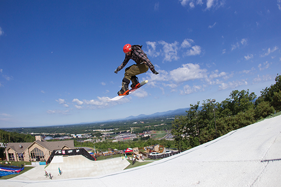 Campers are photographed during Next Level Summer camps at the Liberty Mountain Snowflex Centre on July 17, 2014. (Photo by Kevin Manguiob)